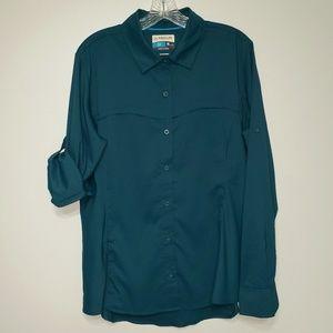 Magellan XL fish gear Vented button down shirt